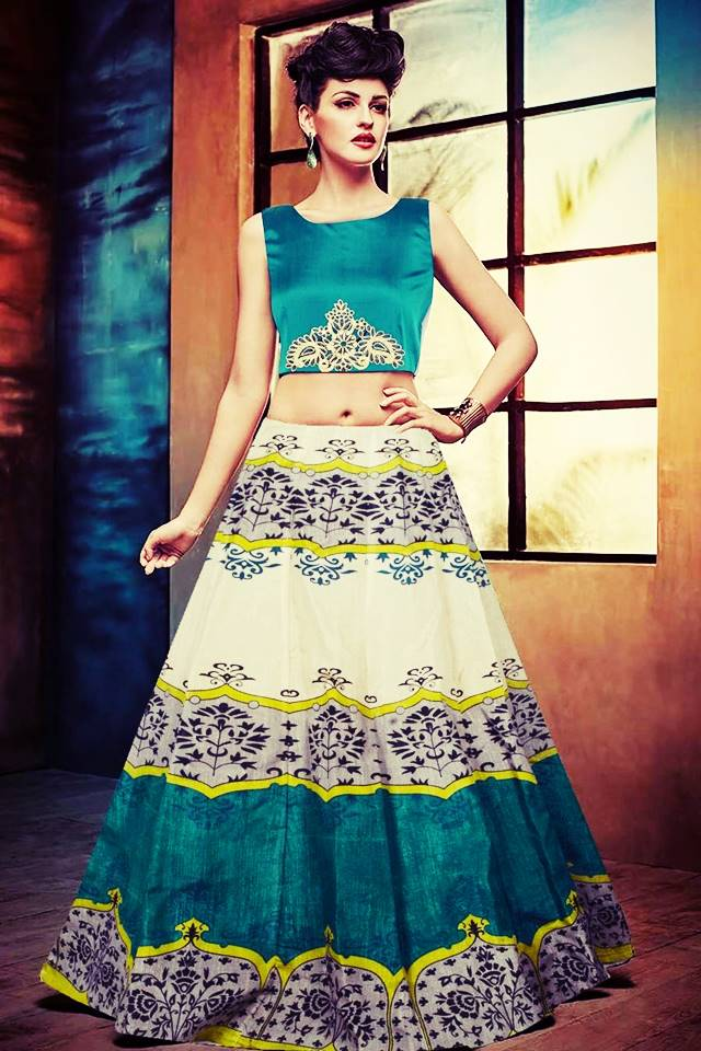 Exclusive Printed Designer Lehenga #L22 Green