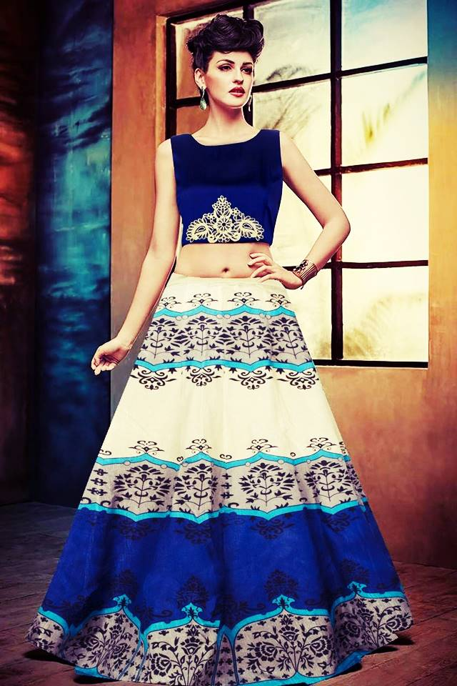 Exclusive Printed Designer Lehenga #L20 RoyalBlue