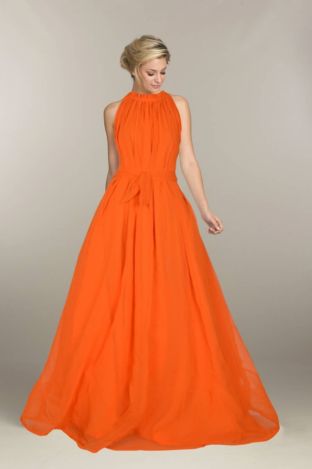 Exclusive Designer Royal Gown #G29 Dyna Orange, Buy Gowns online ...
