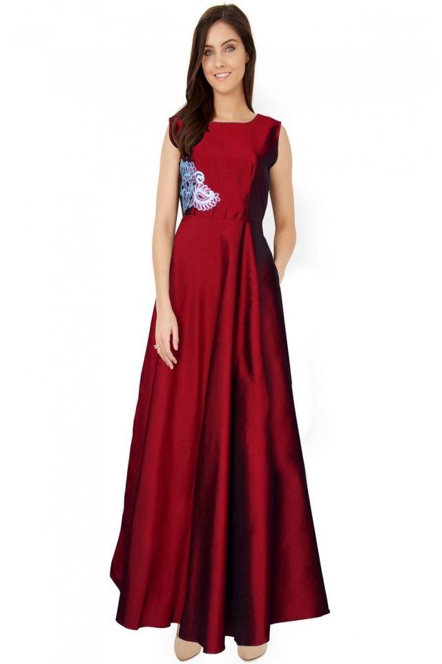 Exclusive Designer Royal Gown #G06 Paris Maroon