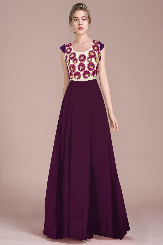 Exclusive Designer Royal Gown #G21 Ferrari Dark Purple, Buy Gowns ...