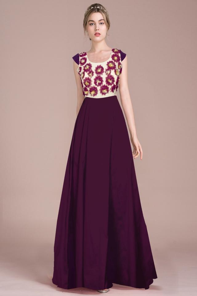 Exclusive Designer Royal Gown #G21 Ferrari Dark Purple, Buy Gowns ...