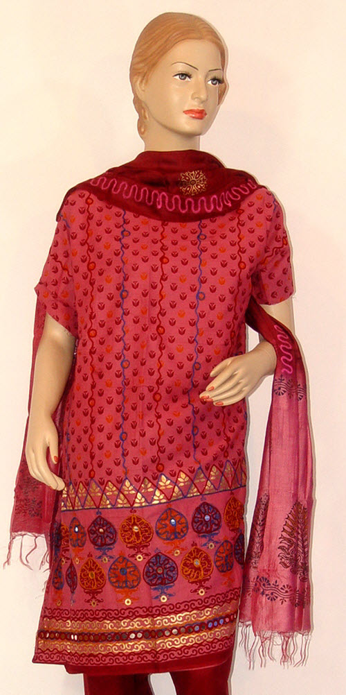 Designer Cotton Printed Suit Un-stitched 10232