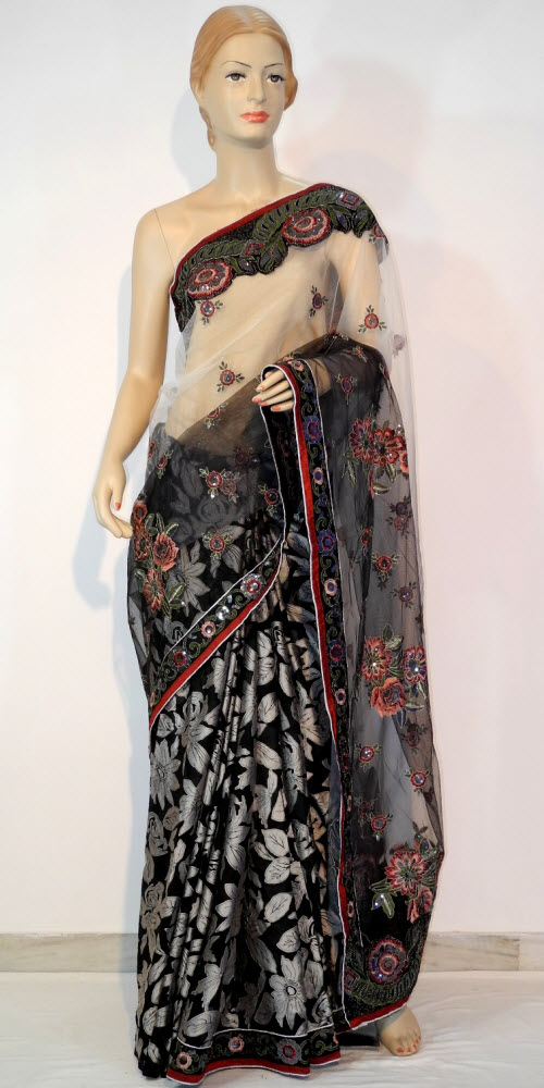 Designer Embroidered Saree 10679