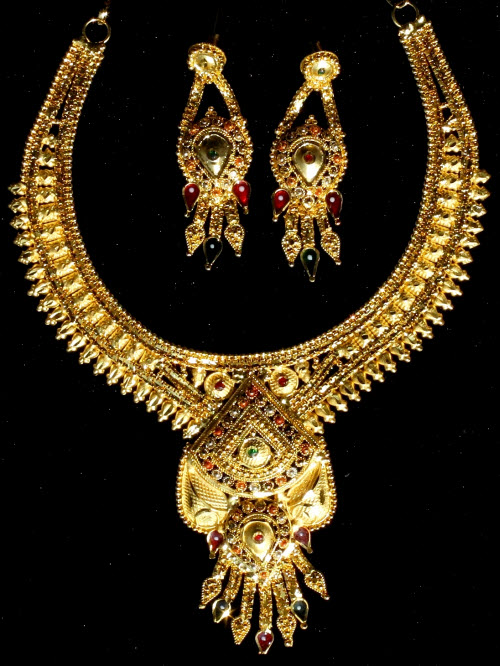 23.5 K Micro Gold Plated Necklace Set 10829