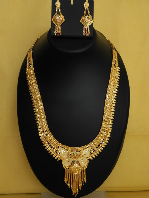 23.5 Carat Gold-Plated Necklace Set 10835