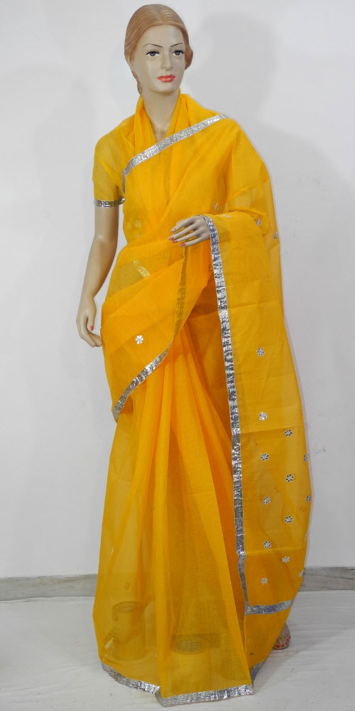 Traditional Kota Cotton Saree (Gota Booti) 11456