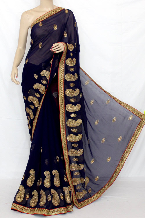 Exclusive Embroidered Saree (With Blouse) 13290
