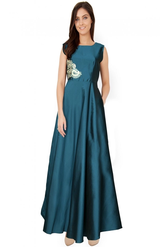 Exclusive Designer Royal Gown #G04 Paris Steal Blue