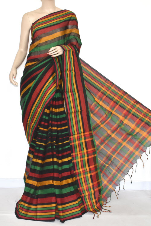Multicolour Handloom Cotton Saree (with Blouse) 17353