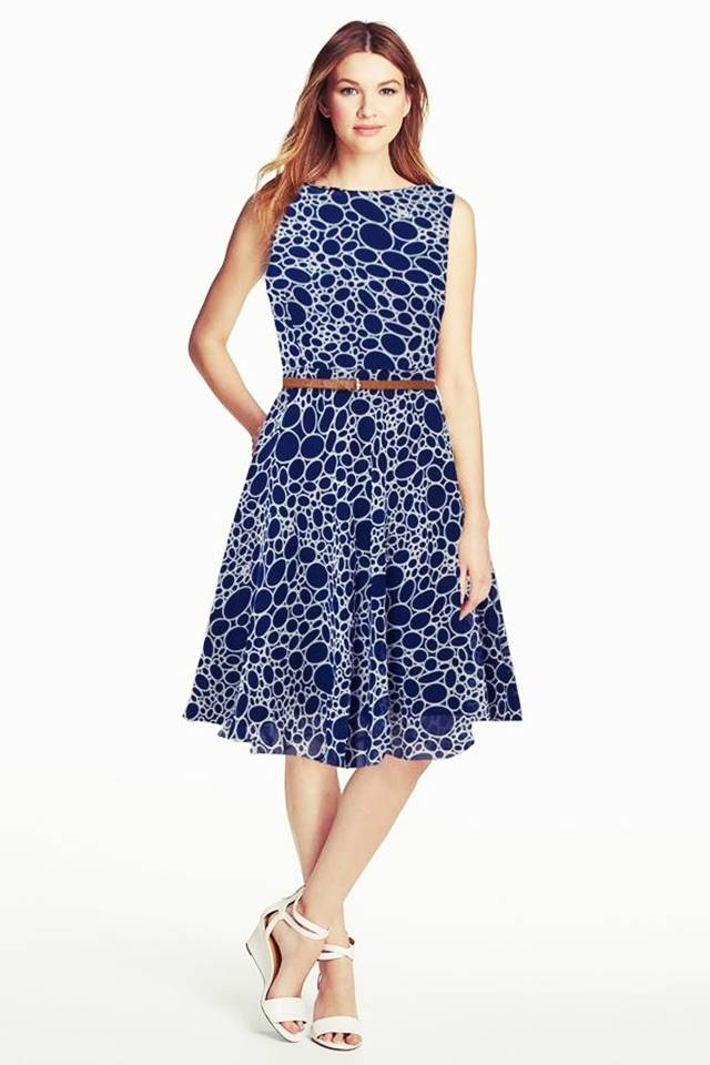 Exclusive Designer Digital Printed Midi With Belt #D122 Stone blue