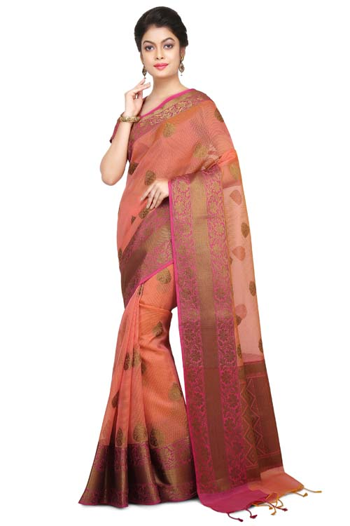 Pink Color Supernet Saree With Border-I127